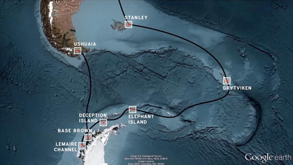 Antarktis-Route
