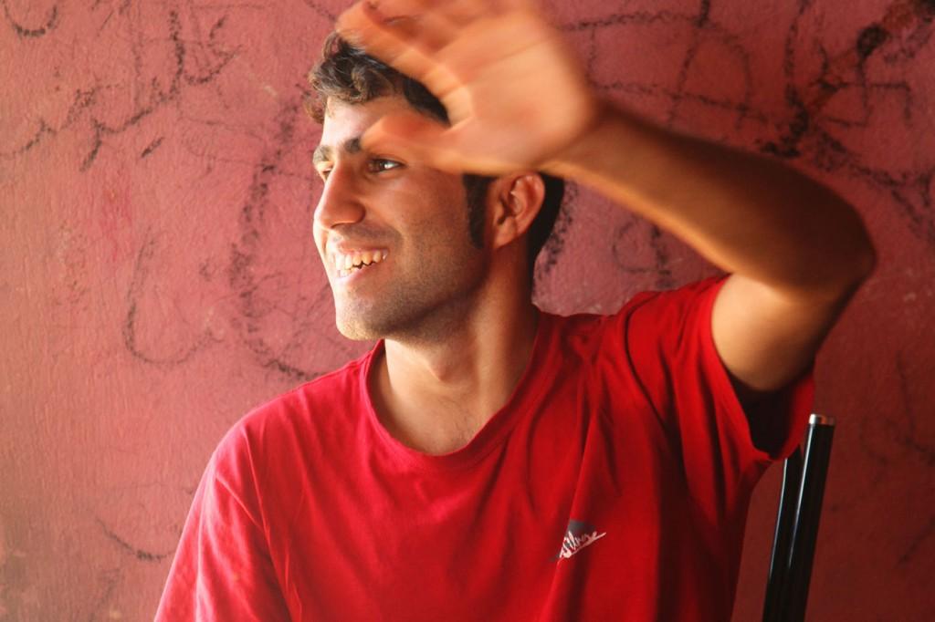 Gastgeber Saeed: Der 20-Jährige reist am liebsten per Anhalter durch sein Land.