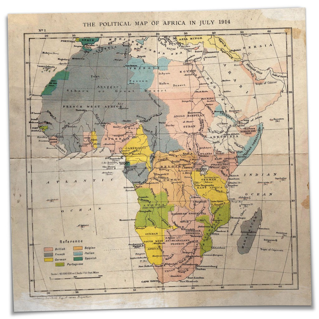 Anfang des 20. Jahrhunderts ist Afrika fast komplett kolonialisiert:  Sieben europäische Statten haben den Kontinent  unter sich aufgeteilt. Im heutigen Südafrika herrschen die Briten.