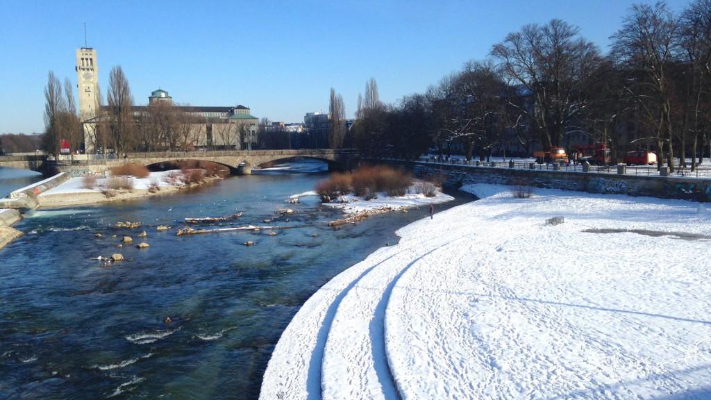 Auf der Reichenbachbrücke im Winter