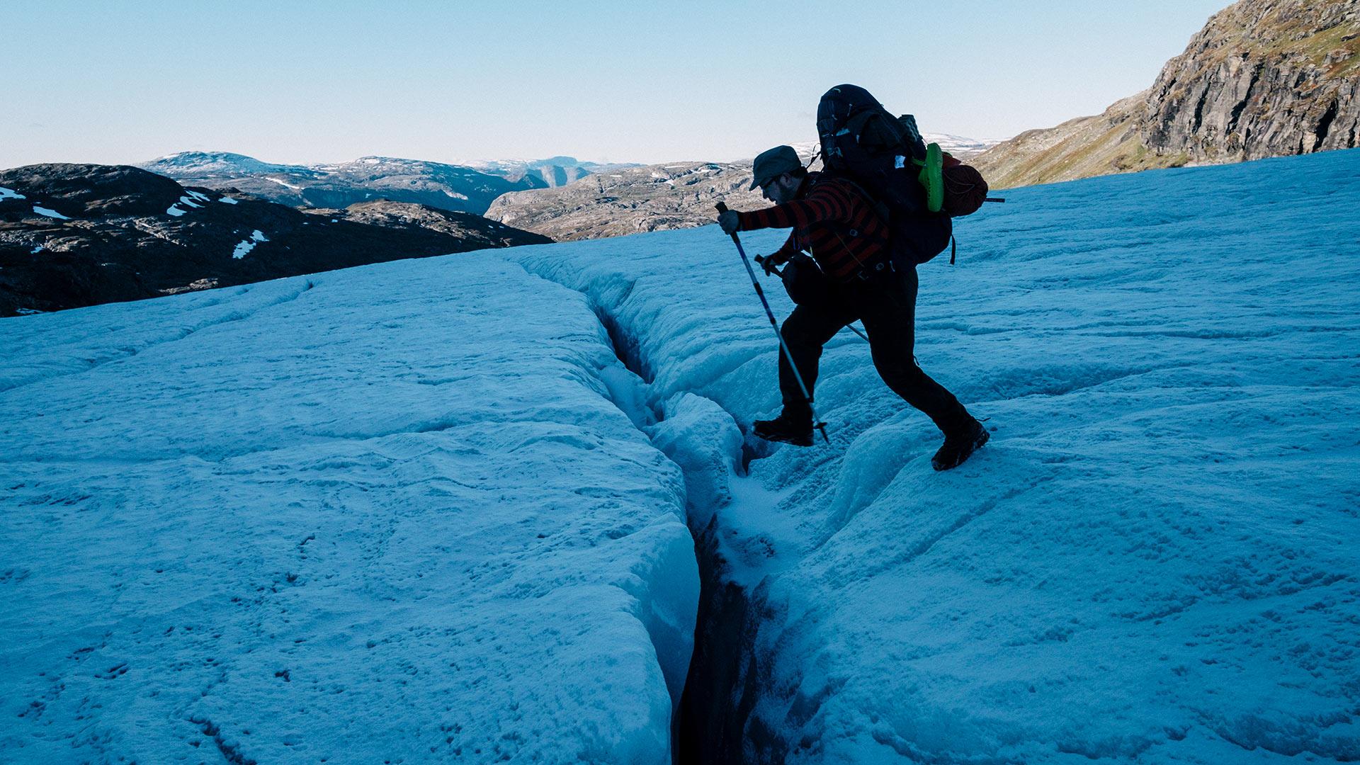 Foto Gletscherspalte