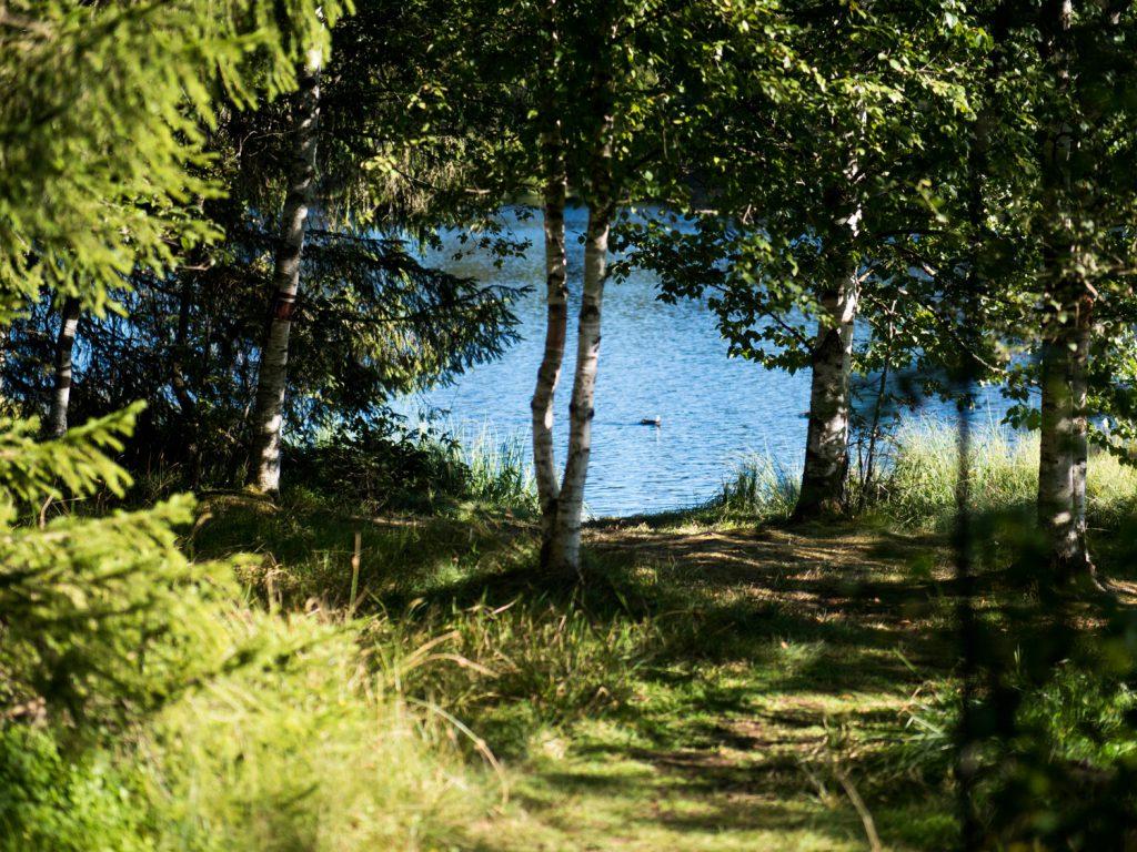 In etwa einer Stunde kann man gemütlich um den See spazieren.
